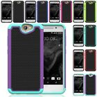 For Htc One A9 Hybrid Hard Slim Soft Cyber Grid Armor Case Skin Phone Cover