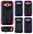 For Samsung Galaxy j3 Advanced HYBRID KICKSTAND Protector Case Cover Accessory