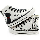 Fashion Hand-painted Cute Cartoon Cats & Birds Comfortable Canvas Shoes