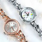 Women Rhinestones Alloy Bowknot Chain Strap Casual Quartz Bracelet Wrist Watch