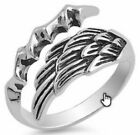 Silver Ring - Angel Wing with Eagle Claw