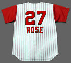 PETE ROSE Cincinnati Reds 1963 Majestic Throwback Home Baseball Jersey on Ebay