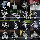 1pc Cute Silver Metal Animal Charming Crystal Beads Pendant For Chain Necklace