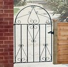 Classic Metal Scroll Garden Gates From 838mm To 991mm Gaps Low Bow Wrought Iron