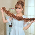 Women Clip In Ponytail Wavy Horsetail Long Hairpieces Curly Hair Extension Girl