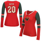 Minnesota Wild Reebok Women's Rbk Edge Long Sleeve Jersey  T-Shirt - Red