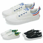 Women Lace Up Canvas Flat Low Top Sneakers Sport Shoes Plimsoll New US 4.5-8