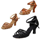 Women's Girls Ballroom Latin Tango Dance Dancing Shoes heeled Salsa Party Hot