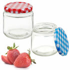 Glass Storage Jars Container With Screw Lid Kitchen Preserve Jam Food Airtight