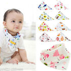 Baby Boys Girls Bandana Bibs Infant Triangle Head Scarf Saliva Towel Dribble New