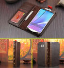 Retro Vintage Style Book Flip Leather Case Cards Cover For Apple Samsung Phones