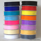 Organza Chiffon Ribbon 15mm wide 25 yard reel (22.8 metres) *Choose Colour*