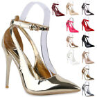 Spitze Damen Pumps Elegante Lack Stilettos Party Schuhe 811510 New Look