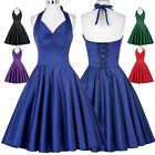 Womens Short/Mini Cocktail 50s Vintage Dresses Swing Pinup Evening Ball Party