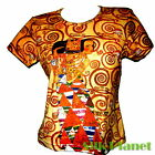 GUSTAV KLIMT Expectation Egyptian T SHIRT FINE ART PRINT NOUVEAU PAINTING GOLD