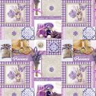 PVC TABLE CLOTH PROVENCE LAVENDER PURPLE Old LACE BUTTERFLY GINGHAM WIPEABLE