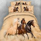 Horse Doona Quilt Duvet Cover Set Single Queen King Size Bed Animal Pillowcases