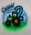 TRACTOR BIRTHDAY T SHIRT NEW PERSONALIZED INFANT, TODDLER & YOUTH SIZES