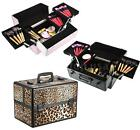 2 Layers Large Lockable Cosmetic Organizer Makeup Box Case Stand Storage X4I3