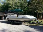 1997 24 huricand deck boat with 200hp yamaha and trailer with cover