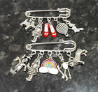 Wizard of Oz Inspired kilt pin brooch, handbag bag charm 2 designs