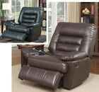 big armchairs - Big & Tall Brown Black Leather Massage Recliners Armchair Recliner Chair Chairs
