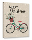 ArtWall 'Merry Christmas Bike' by Jo Moulton Textual Art on Wrapped Canvas