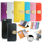 """For iPhone 6 / 6S 4.7"""" Leather Credit Card Slot Holder Flip Wallet Case Cove"""