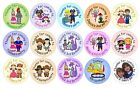 48 custom personalised birthday / party stickers for boys & girls & joint party