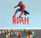 Personalised SPIDERMAN Inspired Wall Sticker Art Your Name / Message..