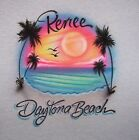 AIRBRUSHED BEACH SCENE T SHIRT PERSONALIZED  NEW S, M, L, XL YOUTH AND ADULT