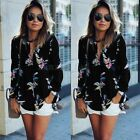 Women Ladies Casual Long Sleeve Blouse CCC Summer Floral Shirt Tops T-shirt