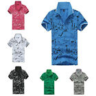 New Casual Style Fashion Short Sleeve T-shirt Mens Slim Fit POLO Shirt Tops Tee