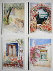 BLANK GREETINGS CARDS WATERCOLOUR BIRTHDAY NEW HOUSE THANK YOU EASTER FLOWERS