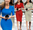 Womens Celeb Bodycon Wear To Work Career Business Party Shift Pencil Dress y11