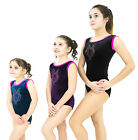 girls gymnastics sleeveless dance leotard the pink owl