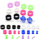 Pair(2) 3-20MM Double Flare Thin Flexible Silicone Ear Skin Tunnel Plugs Earlets