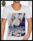 MENS MID-DEEP SCOOP NECK FASHION T SHIRT Tattoo RETRO Talent og swag club top