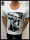 MENS new MID-DEEP SCOOP NECK FASHION T SHIRT Tattoo  RETRO Jersey sexy club top