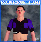 Proline Double Shoulder Brace Black Medical Support Wear Sport Protection Gear