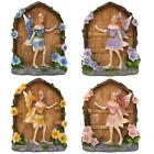Miniature Sparkle Fairy Doors Magical Garden Figurine Statue Home Mini Ornament