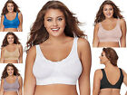 Just My Size Seamless Bra ~ Pure Comfort® Wirefree Lace Trim w/ Back Close 1271