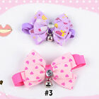 Puppy Pet Dog Bell Cat Bowtie Doggy Kitten Collar Bow Adjustable Tie Jewelry ET