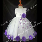 #MFP7 Baby Girls Christening Communion Birthday Pageant Party Prom Gown Dress