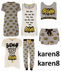 Ladies Batman Pyjamas Primark Dc Comics  Womens T Shirt Shorts Lounge Pant