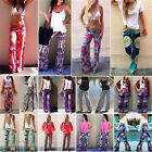 Women Stripe Harem Aladdin Loose Wide Leg Gypsy Yoga Long Pants Palazzo Trousers