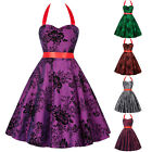 Womens Sleeveless Vintage Cocktail Party Dress 50's Evening Short Swing Dress[