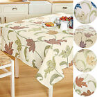 "Kinsale Floral 100% Cotton Durable Table Cloth. Sizes: 70"" x 50"" & 68"" Round"