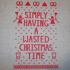 simply having a wasted christmas time ugly sweater fugly party contest t shirt
