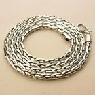 """4MM 925 STERLING SILVER EP BALI CHAIN NECKLACE 24 1/4"""" inch, Ref: baliV4mmD"""